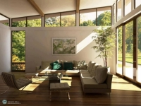 Căn phòng đầy ánh nắng