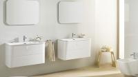 Mãn nhãn với gam màu trắng cho phòng tắm thanh lịch và ấn tượng
