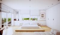 Thiết kế phòng ngủ với gam màu trắng tinh khôi