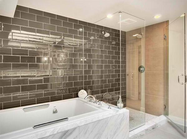 20 ý tưởng phòng tắm sử dụng gạch thẻ